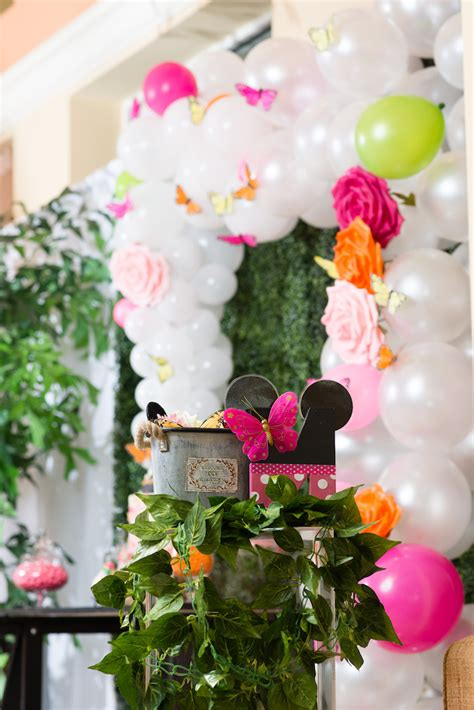 Kara's Party Ideas Minnie Mouse Inspired Butterfly Garden
