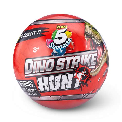 5 SURPRISE Dino Strike Hunt Series 3 Mystery Collectible