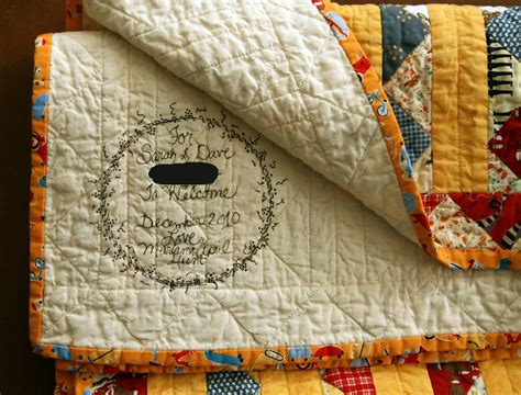 Baby O's quilt label | My mother-in-law has a neat little