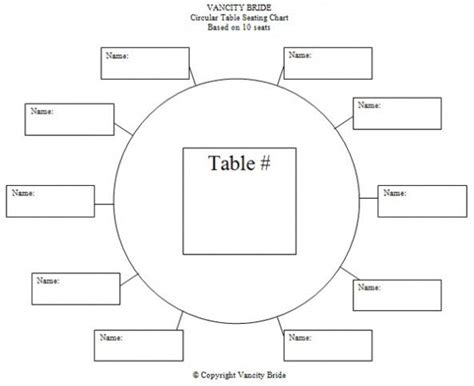 Table Seating Chart Template | Seating chart wedding