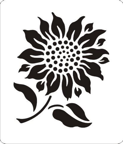 sunflower stencil for making card SS 045-in Artificial