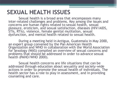 Updates on sexual related issues