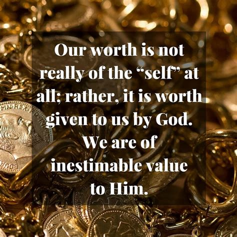 What does the Bible say about self-worth?