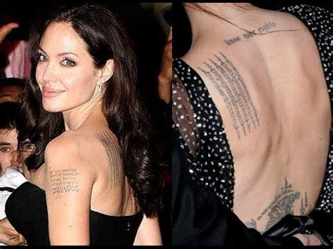 Angelina Jolie's Tattoo and Its Meaning (January 2015