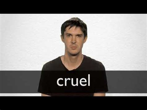 Cruel definition and meaning   Collins English Dictionary