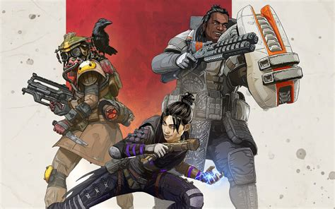 Apex Legends, Characters, Wraith, Gibraltar, Bloodhound