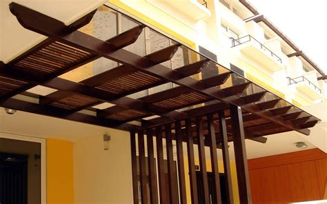 Polycarbonate Roof Singapore, Wooden, Outdoor Roof Trellis
