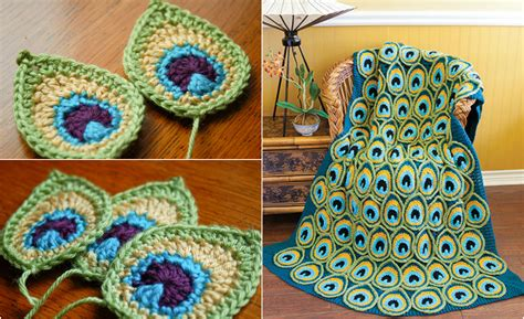 [Easy & Free] Peacock Feather Applique - Crochet Pattern