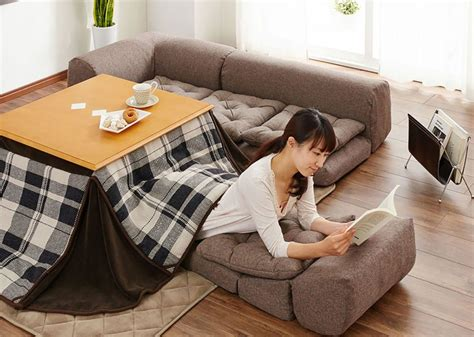Slay winter with a heated Kotatsu table bed from Japan