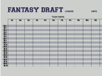 Printable Fantasy Football Roster Sheets That are