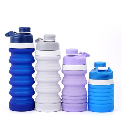Flexible Water Bottle, Collapsible Silicone Water Bottles
