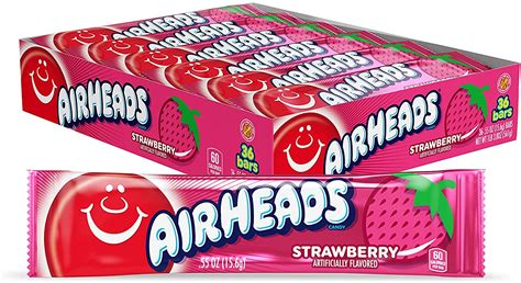 Airheads Strawberry 15g – Box Unit Count: 36 - American