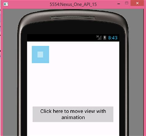 Move view with animation effect in android from left to