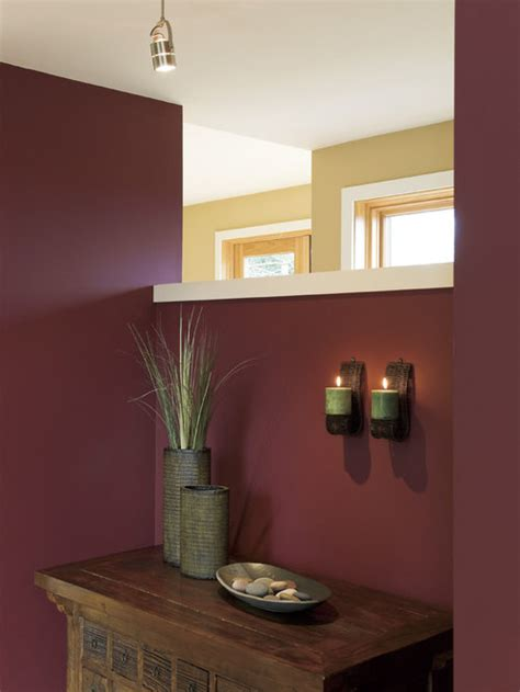 Burgundy Wall Home Design Ideas, Pictures, Remodel and Decor
