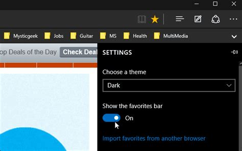 Import Chrome, IE or Firefox Bookmarks into Microsoft Edge
