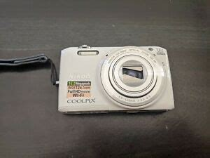 NIKON COOLPIX S6800 DIGITAL CAMERA WHITE 16MP - FOR PARTS