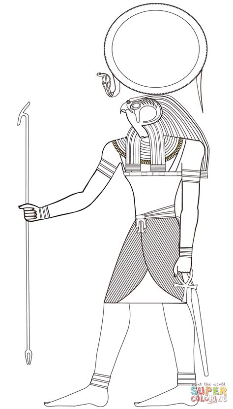 Egyptian God Coloring Pages - Coloring Home