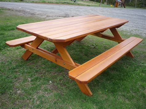 Hand Crafted Picnic Table by Stratton Custom Woodworking