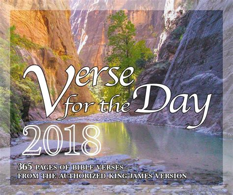 Bible Verse for the Day - 365 Pages Daily Desk Calendar
