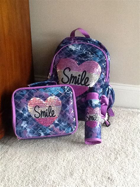Backpack, lunchbox, and water bottle kit from justice