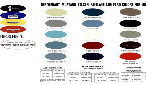 Regress Press -Ford 1965 Exterior Color Selection - for