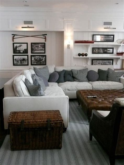 Giannetti Home: Comfortable family room with vintage