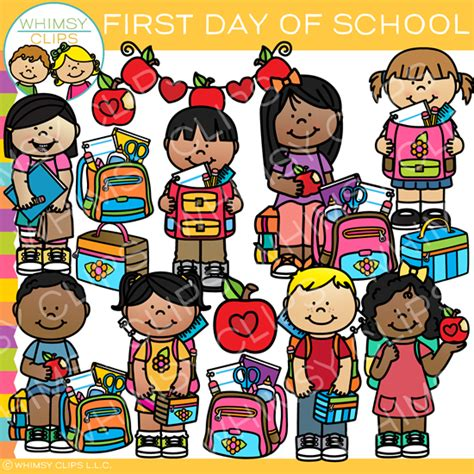 First Day of School , Images & Illustrations | Whimsy Clips