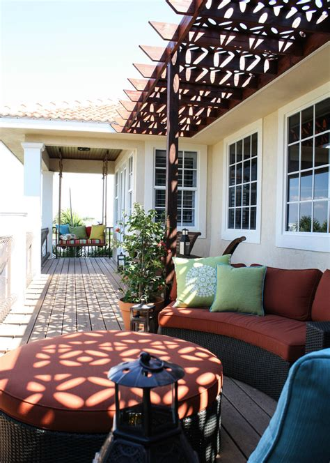 Baroque porch swing cushions in Porch Mediterranean with