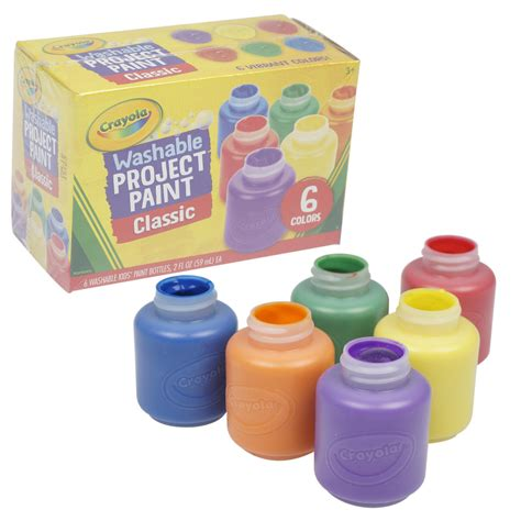 Wholesale Crayola Washable Classic Project Paint - 6 Count