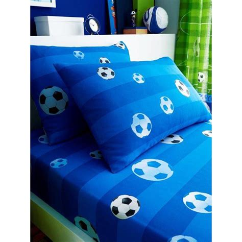 Goal Football Single Fitted Sheet and Pillowcase Set
