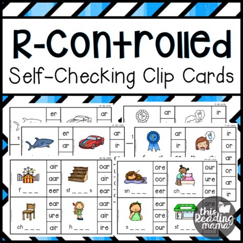 Self-Checking R-Controlled Clip Cards - This Reading Mama
