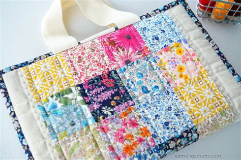 Quilted Book Bag Pattern   FaveCrafts