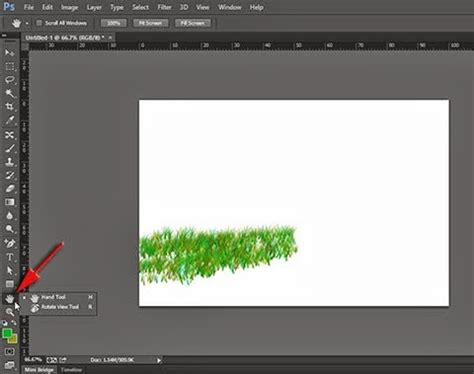 Rotate Canvas/Image Using Rotate View Tool in Adobe Photoshop