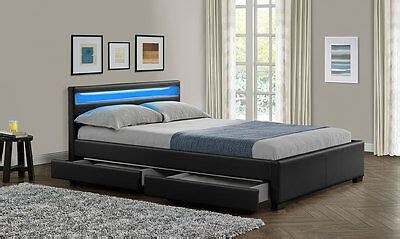 NEW Double King Size Bed Frame LED Headboard Night Light