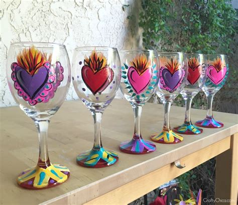 Painted Wine Glasses DIY - The Crafty Chica