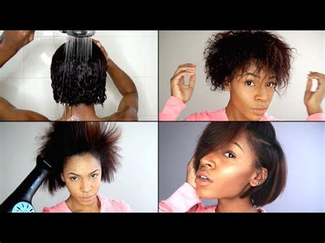 How To Wash, Blow Out & Straighten Natural Hair For Best