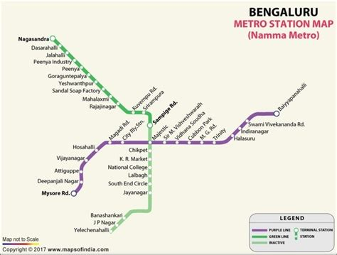 Does Bangalore Metro train run between majestic and