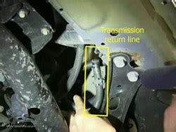 Where is the Transmission Return Line on a 2005 Honda