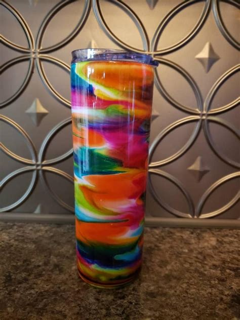 Alcohol Ink Tumbler   Etsy in 2021   Alcohol ink, Glitter