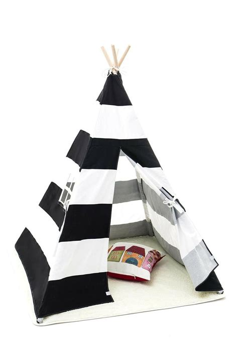 Small Boy Stripe Canvas Play Teepee Tent