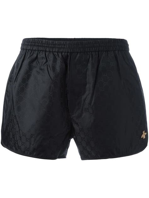 Gucci Synthetic Gg Swim Shorts in Black for Men - Lyst