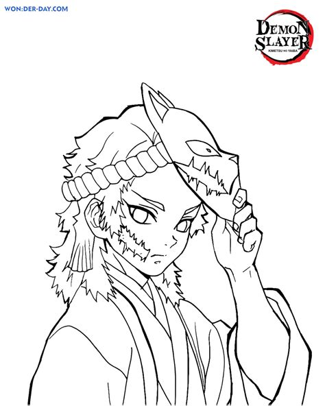 Demon Slayer coloring pages