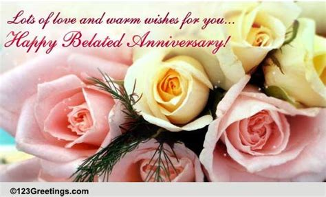 Belated Anniversary Wish For A Couple