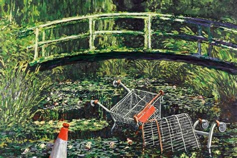 Banksy's painting Show Me The Monet expected to fetch £3-5