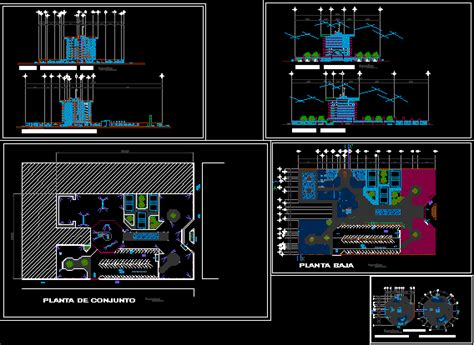 Luxury Hotel With Spa 2D DWG Design Full Project for