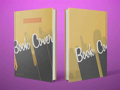 Simple Front And Back Cover Book Mockups On Vectogravic