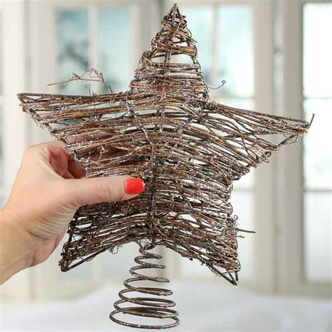 Sparkling Grapevine Star Tree Topper - Trees and Toppers