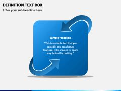 Definition Text Box PowerPoint Template - PPT Slides