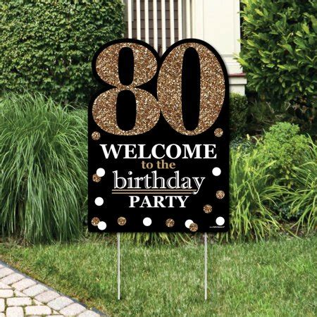 Adult 80th Birthday - Gold - Party Decorations - Birthday